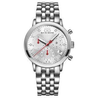 88 Rue du Rhone Women's 87WA130035 'Double 8 Origin' Chronograph Swiss Quartz Stainless Steel Watch|https://ak1.ostkcdn.com/images/products/9992249/P17142257.jpg?impolicy=medium