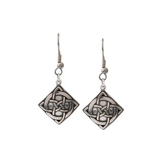 Sterling Silver Celtic Vision Knot Earrings