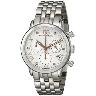 88 Rue du Rhone Women's 87WA130034 'Double 8 Origin' Chronograph Swiss Quartz Stainless Steel Watch