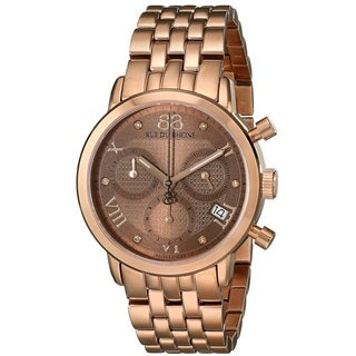 88 Rue du Rhone Women's 87WA130033 'Double 8 Origin' Chronograph Swiss Quartz Rose Gold Tone Stainless Steel Watch