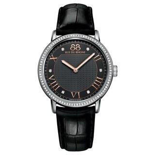 88 Rue du Rhone Women's 87WA130030 'Double 8 Origin' Swiss Quartz Black Leather Watch