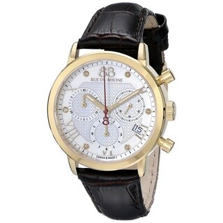 88 Rue du Rhone Women's 87WA130028 'Double 8 Origin' Chronograph Swiss Quartz Brown Leather Watch