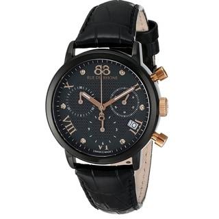 88 Rue du Rhone Women's 87WA130005 'Double 8 Origin' Chronograph Swiss Quartz Black Leather Watch