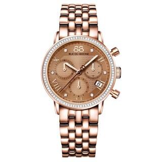 88 Rue du Rhone Women's 87WA130002 'Double 8 Origin' Chronograph Swiss Quartz Rose Gold Tone Stainle