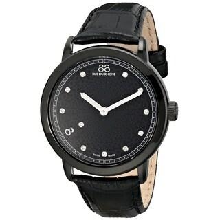 88 Rue du Rhone Women's 87WA120029 'Double 8 Origin' Swiss Quartz Black Leather Watch