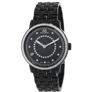 88 Rue du Rhone Women's 87WA120023 'Double 8 Origin' Swiss Quartz Black Stainless Steel Watch