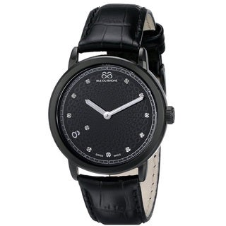 88 Rue du Rhone Women's 87WA120022 'Double 8 Origin' Swiss Quartz Black Leather Watch