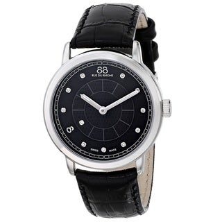 88 Rue du Rhone Women's 87WA120020 'Double 8 Origin' Swiss Quartz Black Leather Watch