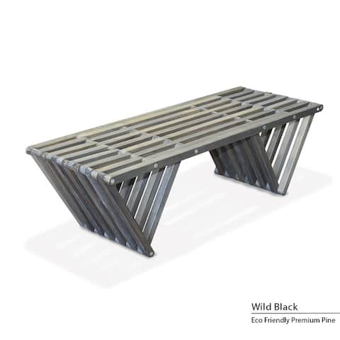 """Wood Bench X90, Modern style L 54"""" Made in America"""