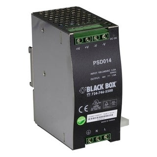 Black Box DIN Mount Power Supply, 48-VDC Output