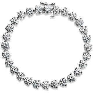 SummerRose Platinum 16ct TDW Round-cut Diamond Tennis Bracelet