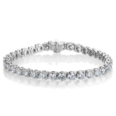 SummerRose Platinum 10 7/8ct TDW Diamond Tennis Bracelet - White