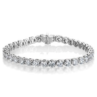 SummerRose Platinum 10 7/8ct TDW Diamond Tennis Bracelet (F-G, VS1-VS2)