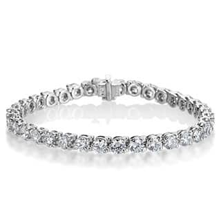 SummerRose Platinum 10 7/8ct TDW Diamond Tennis Bracelet|https://ak1.ostkcdn.com/images/products/9992698/P17142583.jpg?impolicy=medium