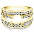 TwoBirch 10k Yellow Gold 1/2ct TDW Wedding Ring Enhancer Set (G-H, I2-I3)