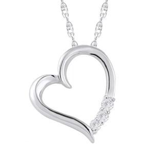 10k Gold 1/10ct TDW Diamond Heart Necklace