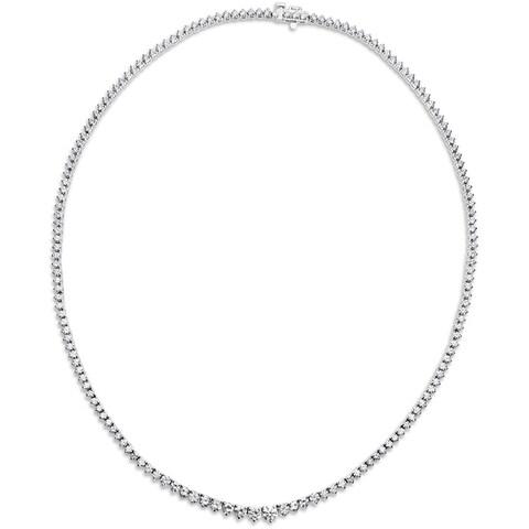 SummerRose 18k White Gold 7ct TDW Round-cut Diamond Tennis Necklace