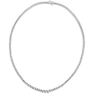 SummerRose 18k White Gold 7ct TDW Round-cut Diamond Tennis Necklace