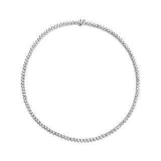 SummerRose 18k White Gold 14 1/3ct TDW Diamond 3-prong Tennis Necklace (G-H, VS1-VS2)