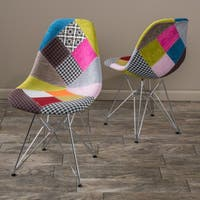 Wilmette Patchwork Fabric Chair by Christopher Knight Home (Set of 2)