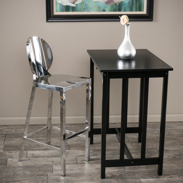 Paris 29 Inch Stainless Steel Bar Stool By Christopher Knight Home