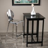 Paris 29-inch  Stainless Steel Bar Stool by Christopher Knight Home - Silver