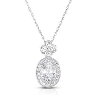 14k White Gold 1 1/10ct TDW Diamond Necklace (H-I, I1-I2)