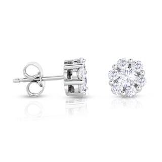 14k White Gold 1ct TDW Diamond Composite Earrings (H-I, SI1-SI2)