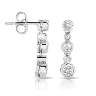 14k White Gold 1/2ct TDW Diamond Dangle Earrings (H-I, I1-I2)
