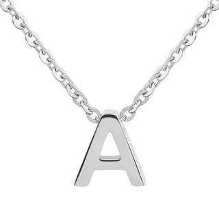 ELYA Stainless Steel Initial Pendant Necklace