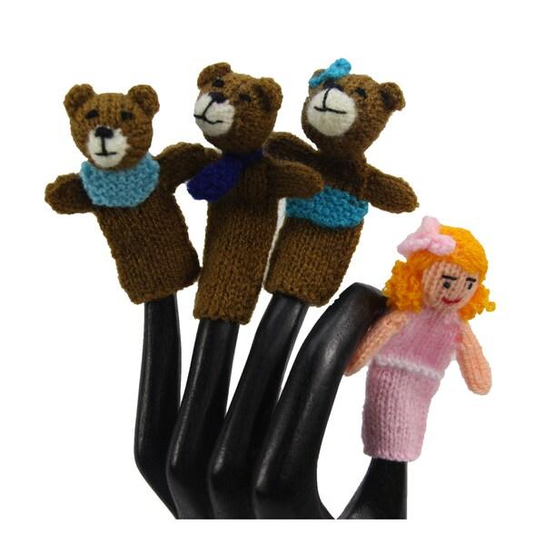 Goldilocks and the Three Bears Finger Puppets Set