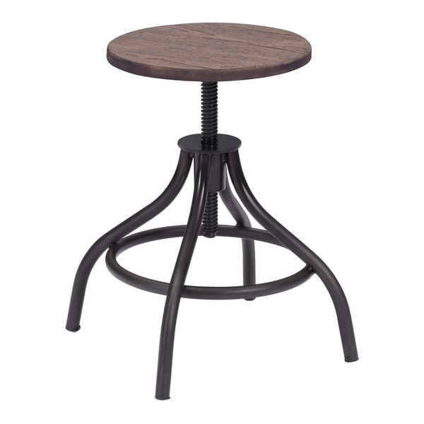 Plato Rustic Wood Stool