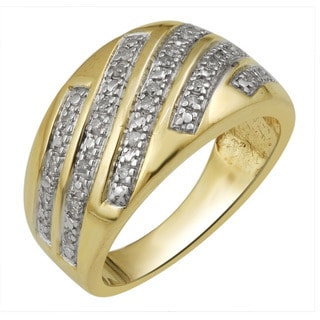 Divina Goldplated Sterling Silver 1/5ct TDW Diamond Ring (H-I , I3)