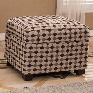 Contemporary Diamond Storage Ottoman