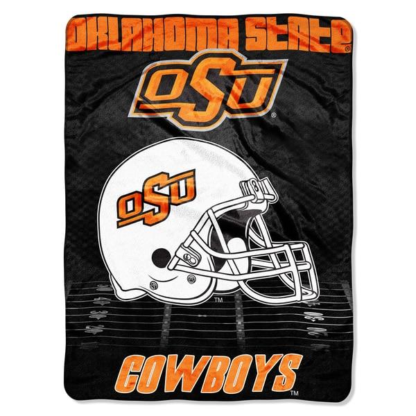 Oklahoma State Overtime Micro Fleece Throw Blanket