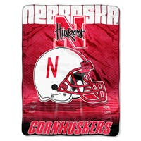 Nebraska Overtime Micro Fleece Throw Blanket