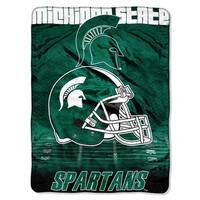 Michigan State Overtime Micro Fleece Throw Blanket