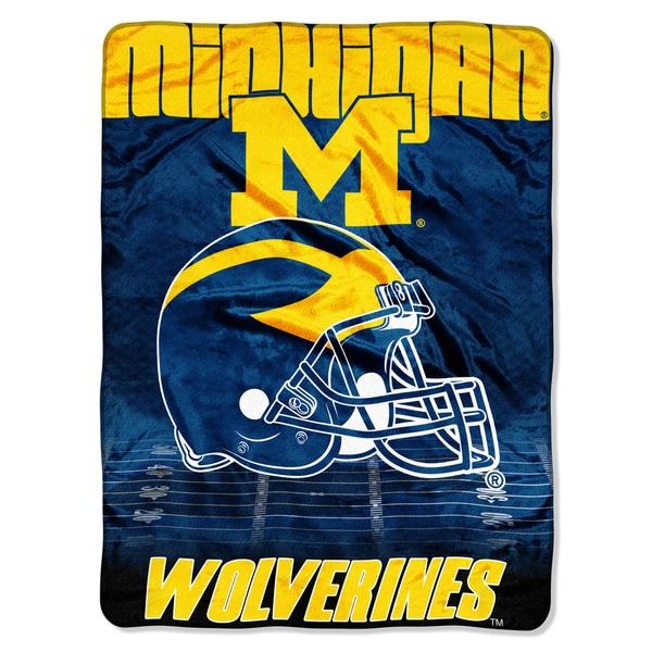 Michigan Overtime Micro Fleece Throw Blanket