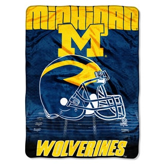 Michigan Overtime Micro Fleece Throw Blanket