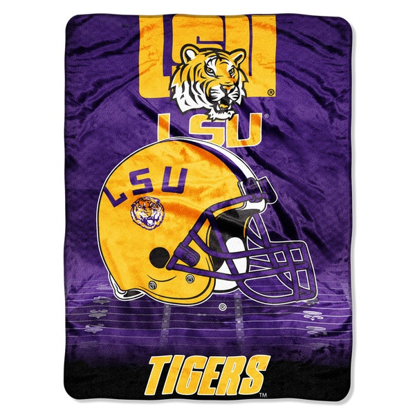 LSU Overtime Micro Fleece Throw Blanket