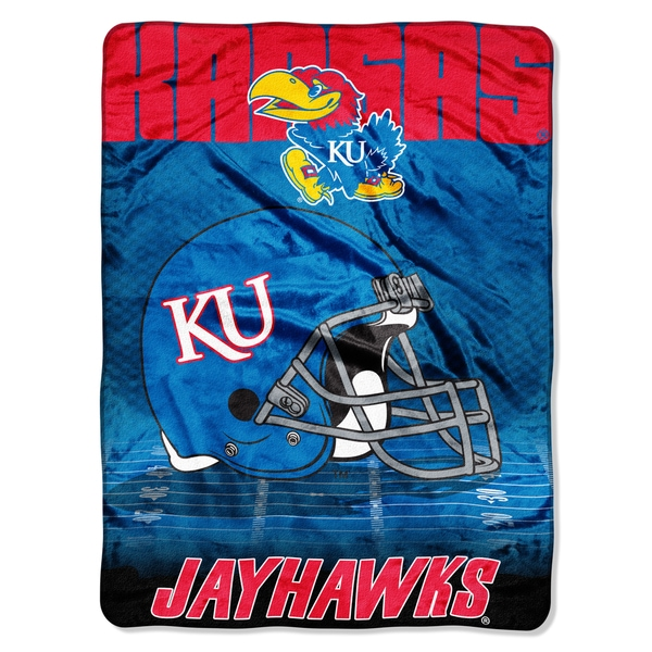Kansas Overtime Micro Fleece Throw Blanket