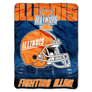 Illinois Overtime Micro Fleece Throw Blanket