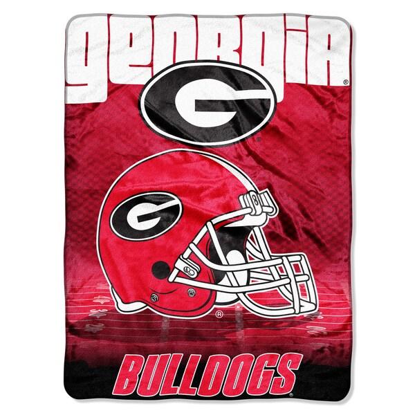 Georgia Overtime Micro Fleece Throw Blanket