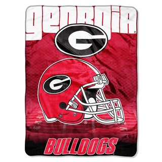 Georgia Overtime Micro Fleece Throw Blanket