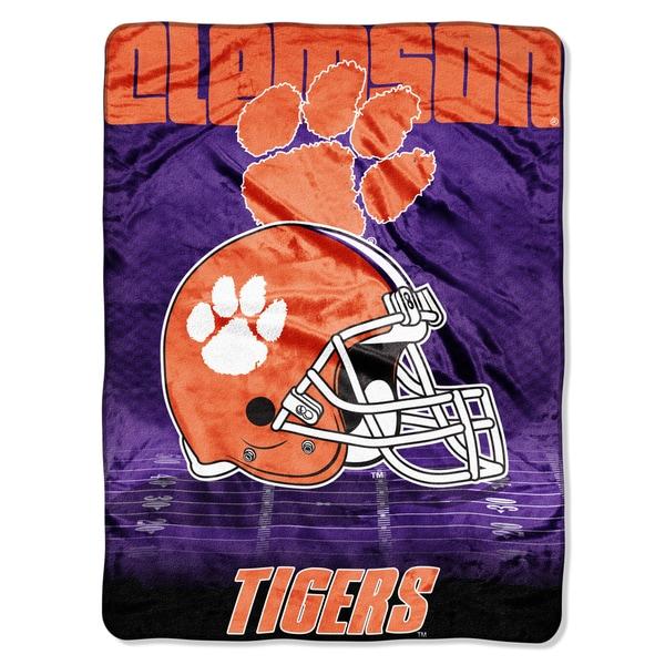 Clemson Overtime Micro Fleece Throw Blanket