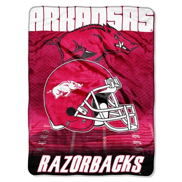 Arkansas Overtime Micro Fleece Throw Blanket