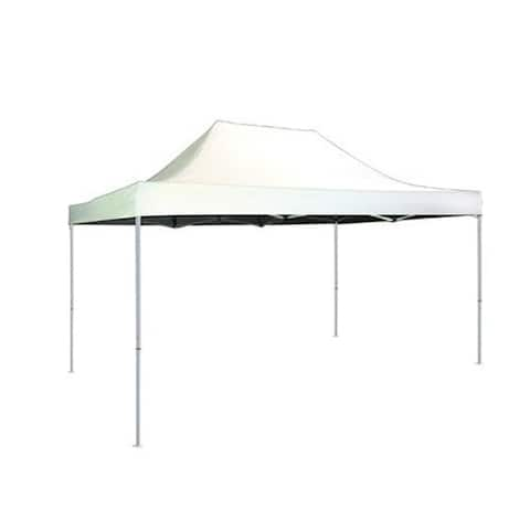 Shelterlogic 10' W x 15' L Straight Leg Pop-up Canopy, American Pride White Cover and Roller Bag / 22599