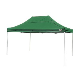 "Shelterlogic 10' W x 15' L x 6'3"" H Straight Leg Pop-up Canopy, American Pride Green Cover and Roller Bag / 22552"