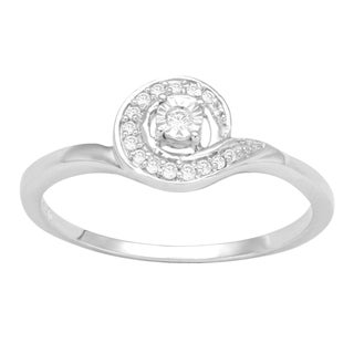 Divina Sterling Silver 1/10ct TDW Diamond Fashion Ring (H-I, I3)