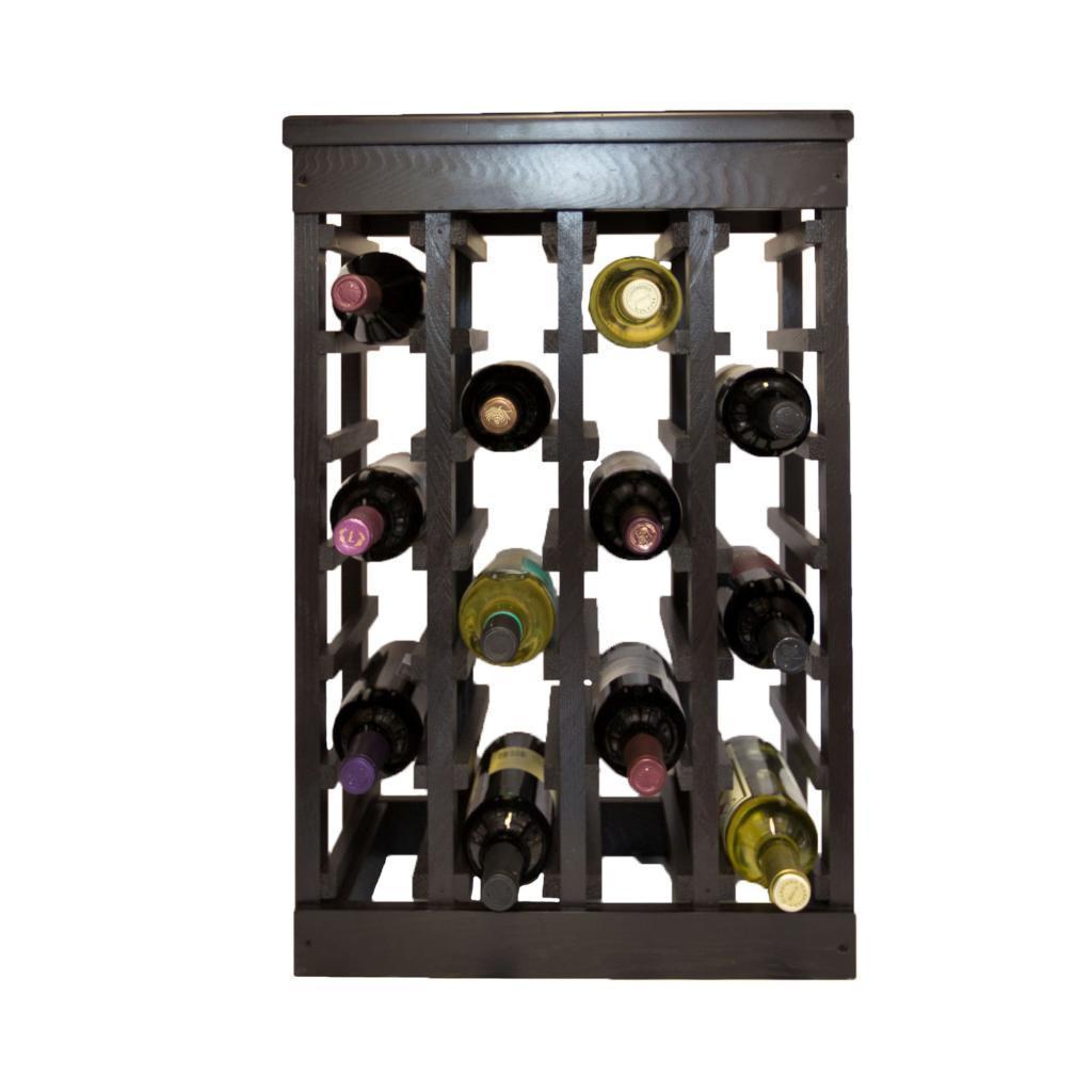 El Mar Furnishings 24 Bottle Classic Wood Wine Rack (El M...
